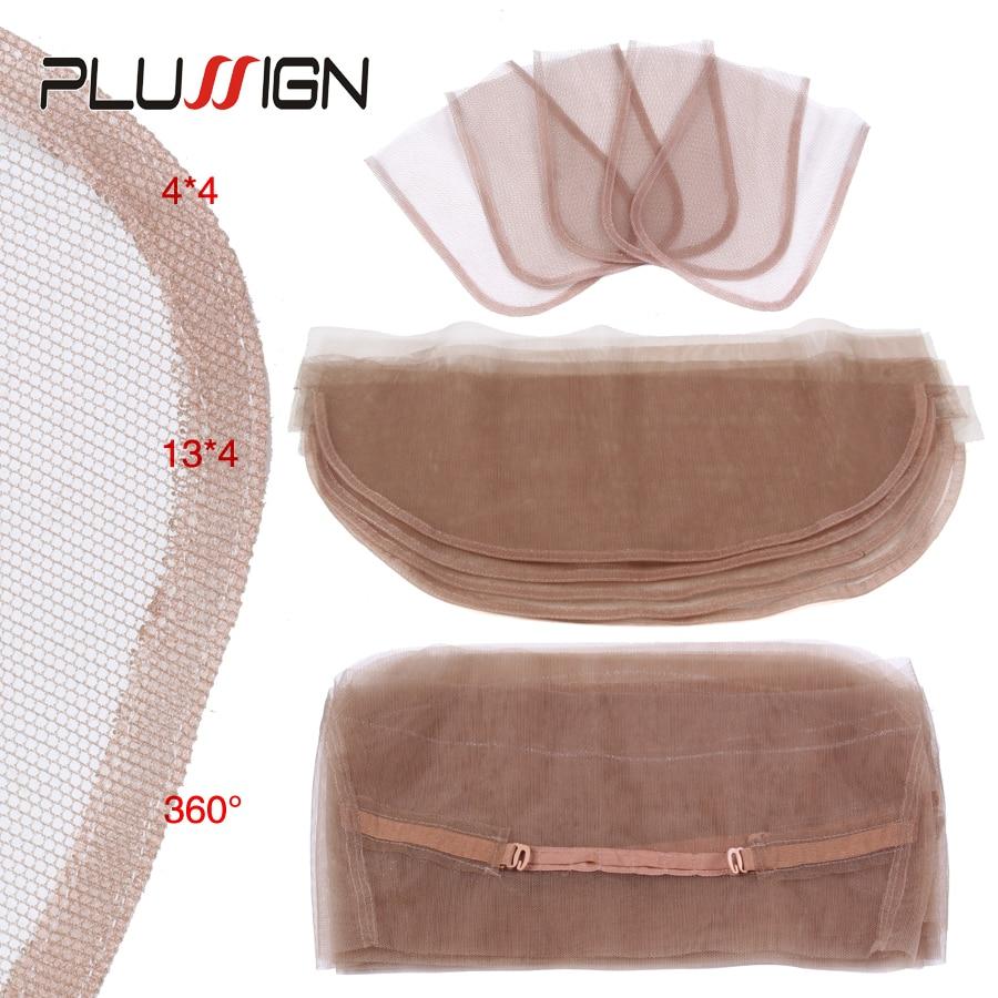 4x4, 5x5, 13x4, 360 Швейцарский парик с кружевной сеткой, основа для волос, 5 шт./лот, топ на шнуровке, чистый парик, плетение, чистый цвет кожи для женщ...