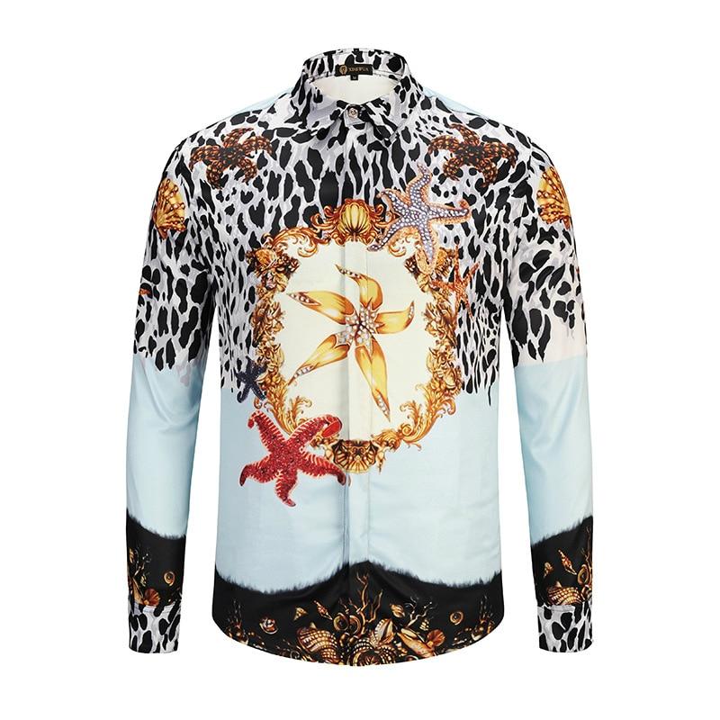 Hemden Herrenbekleidung & Zubehör Begeistert Ximiwua 2019 Neue Ankunft Mens Shirts Mode 3d Kleid Hemd Casual Slim Fit Chemise Homme Große Männer Luxus Hemd Hohe Qualität Komplette Artikelauswahl