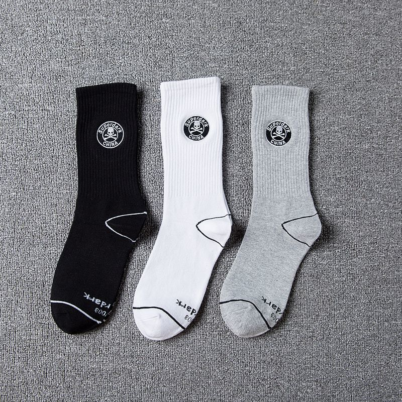Underwear & Sleepwears Cheap Price Socks Men Harajuku Hip Hop Skateboard Long Tube Personality Street Style High Waist Off White Trend Mens 3 Pairs Calcetines Utmost In Convenience