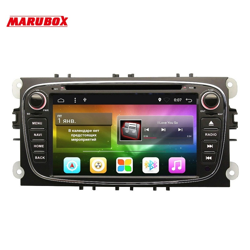 Marubox M600A4,Two Din,7 Inch 4 Core Android 7.1 Car DVD GPS For Ford Mondeo Focus 2 S-max 2007 2008 2009 2011 2013 with Radio 2 din 7 inch car dvd player for ford mondeo s max c max focus 2 2008 2011 with 3g radio gps navigation bt 1080p 8gb map