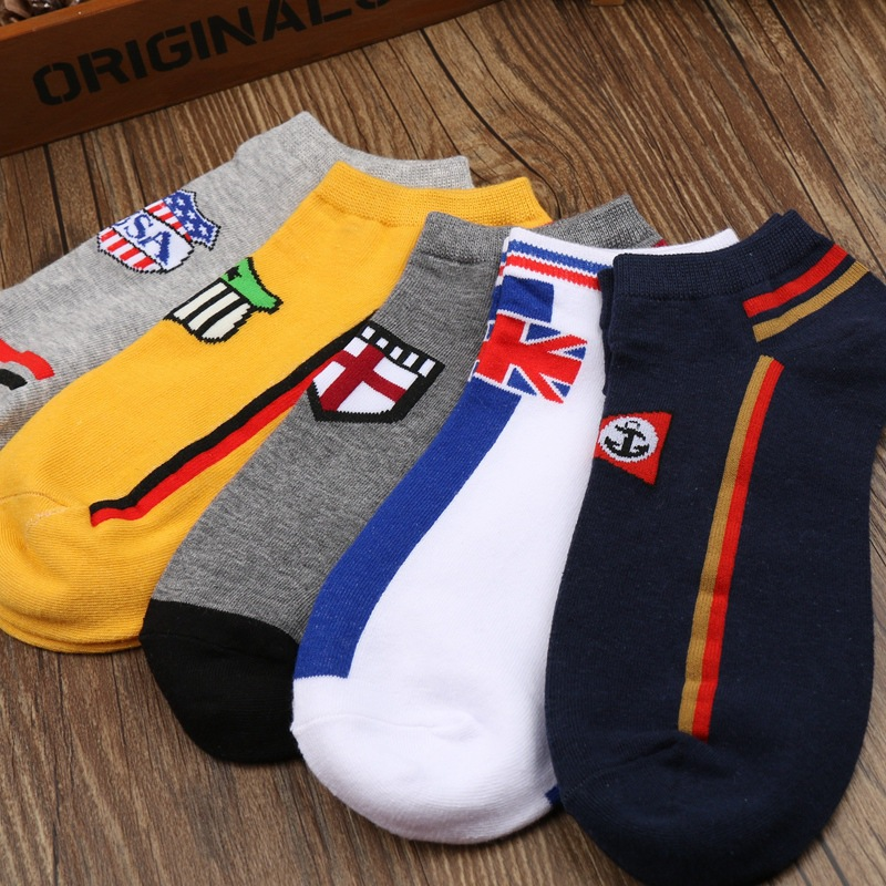 New style high quality mens cotton brand socks Fashion spring summer colorful low ankle socks Mens brand short dress socks