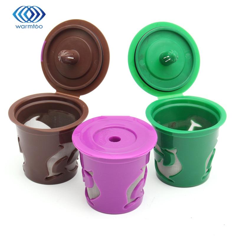 все цены на Purple Green Brown Cups Keurig Refillable Reusable K Cup Coffee Filter