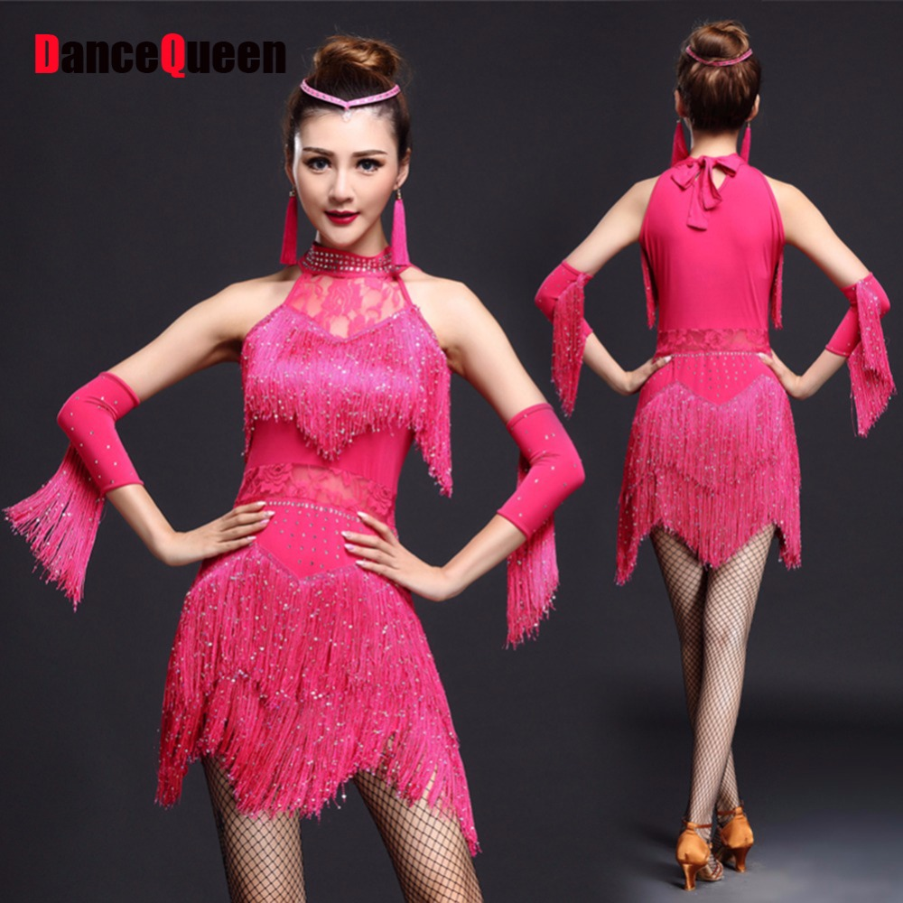 Sexy Latin Dance Dresses For Ladies 4 Color Nice Quality Elastic ...