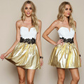 GZDL Summer Fashion New Lady Women Short Mini Strapless Formal Ball Prom Party Vestido Evening Party  Mini Dress CL2435