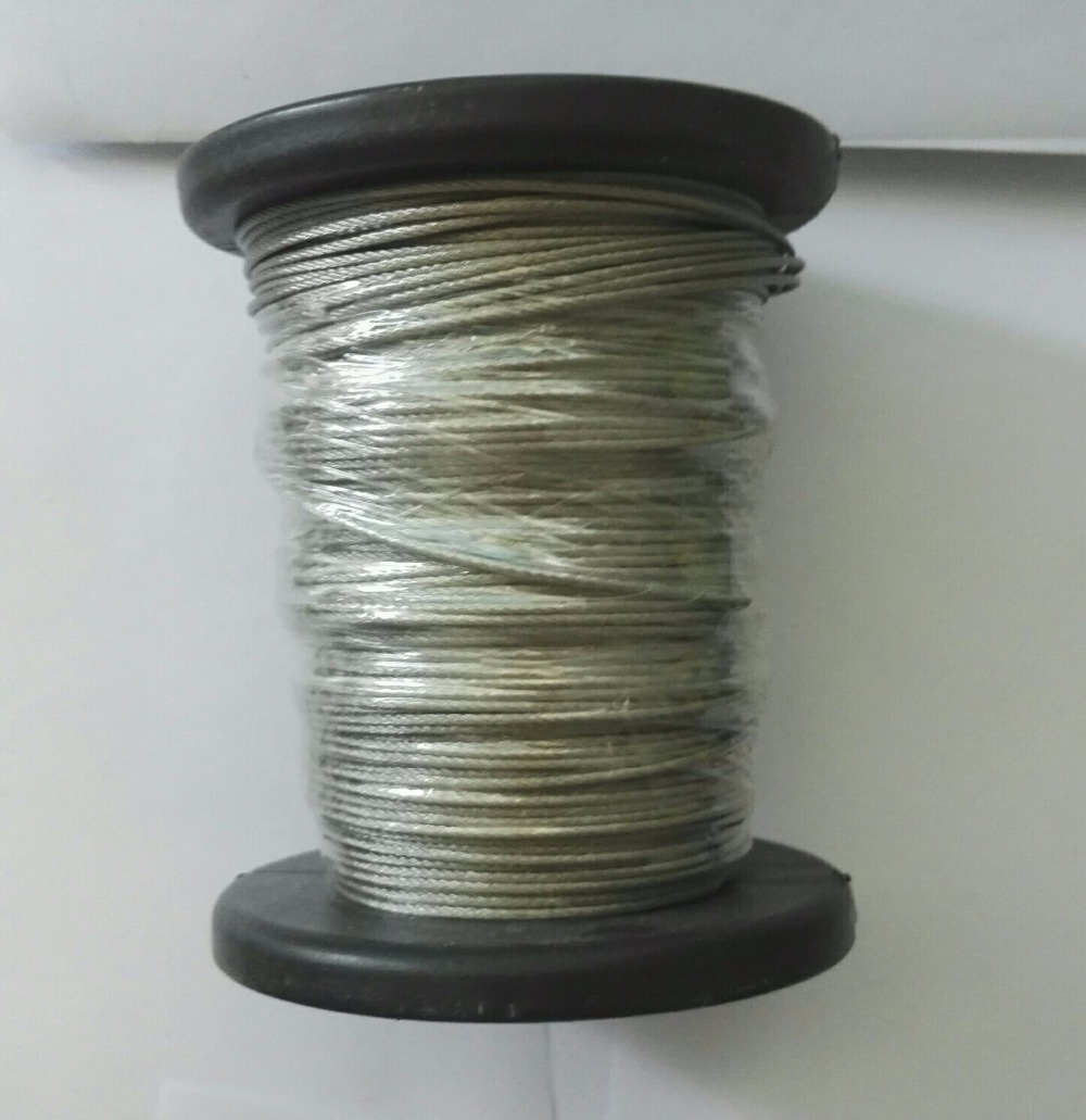 1.2mm 7x7 50M/Roll AISI316 High Tensile Stainless Steel Wire Rope Cable 3mm 7 7 stainless steel 316 wire rope 7x7 strand core seaworthy marine grade