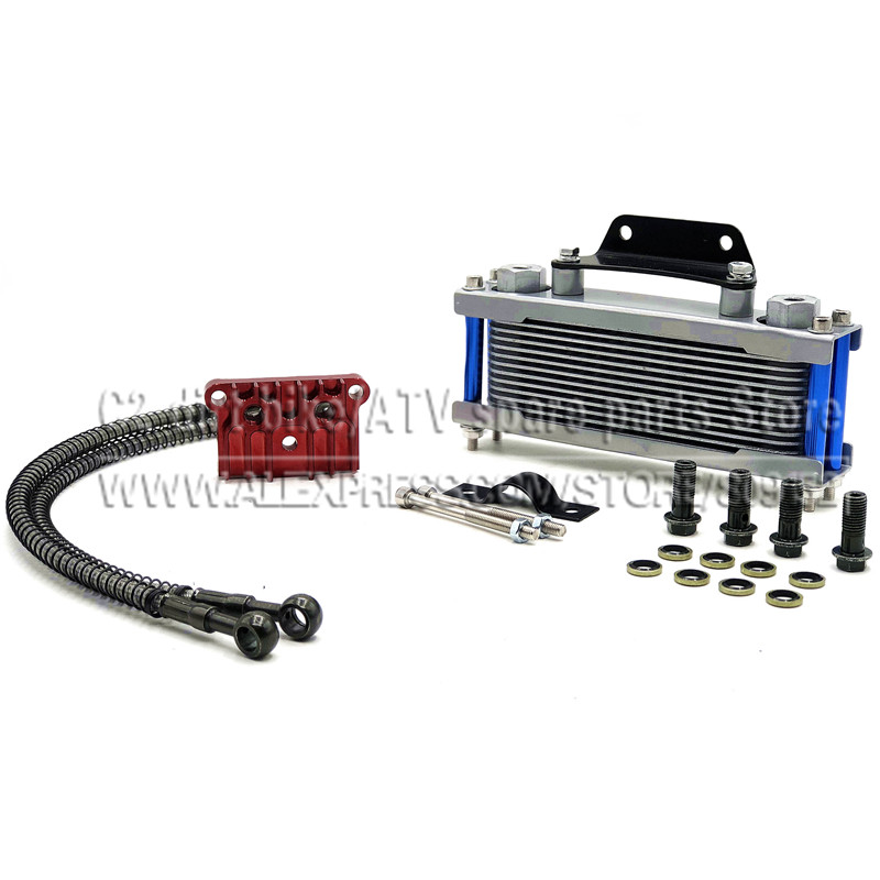 US $37 67 16% OFF|Oil Cooler for zongshen lifan 140cc 150cc refires off  road motorcycle aluminum alloy radiator 125cc dirt pit monkey bike atv-in