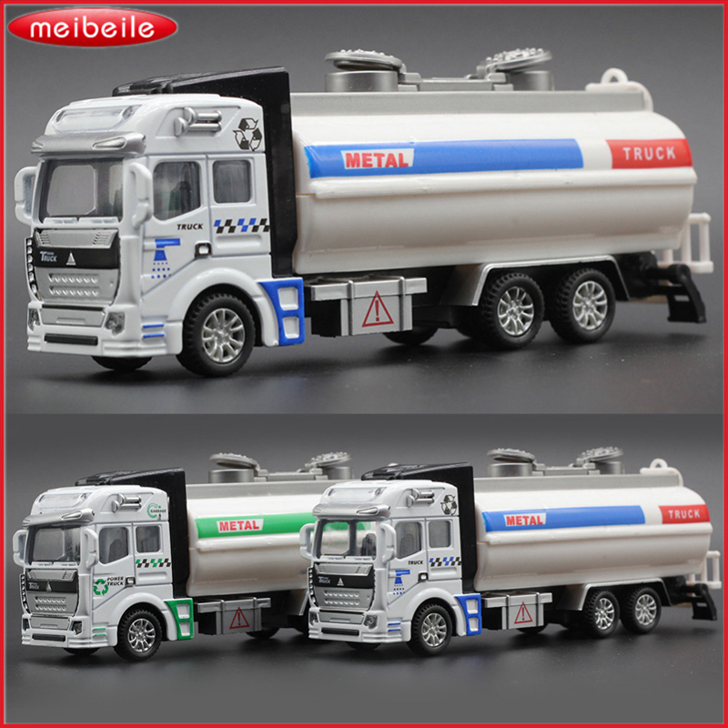 High Simulation Brand New Educational Car Model Tank Truck legetøj Rengøring Vehicle Engineering Legetøj Christmas Gift For Children