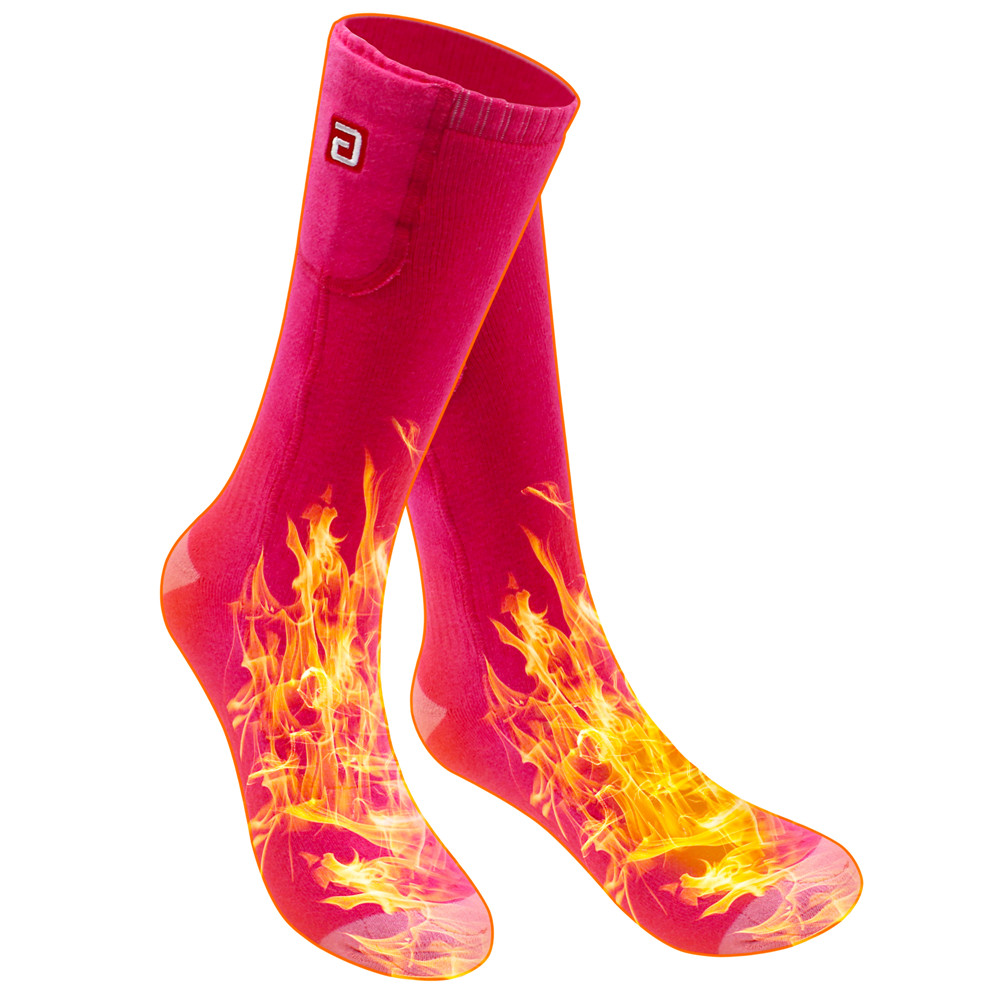 2 4V Electric Power Socks Rechargeable Battery Thermal Heated Acrylic Hunting Socks
