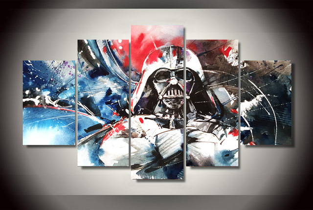 Star Wars Colorful Darth Vader Canvas