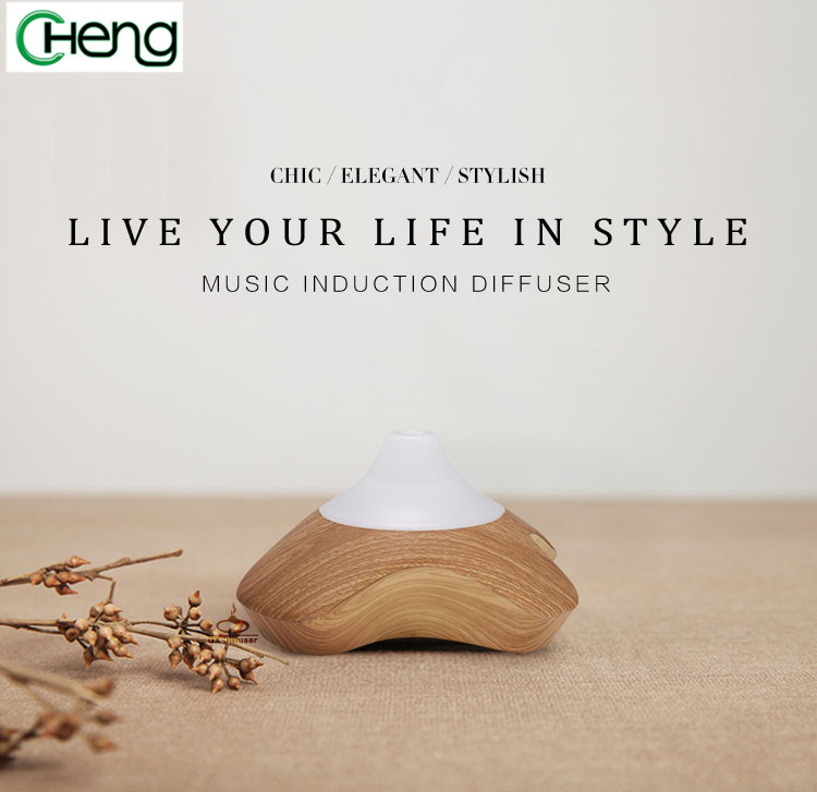 LED light exquisite wooden Aromatherapy aroma diffuser air ultrasonic humidifier essential oil diffuser mist maker home office