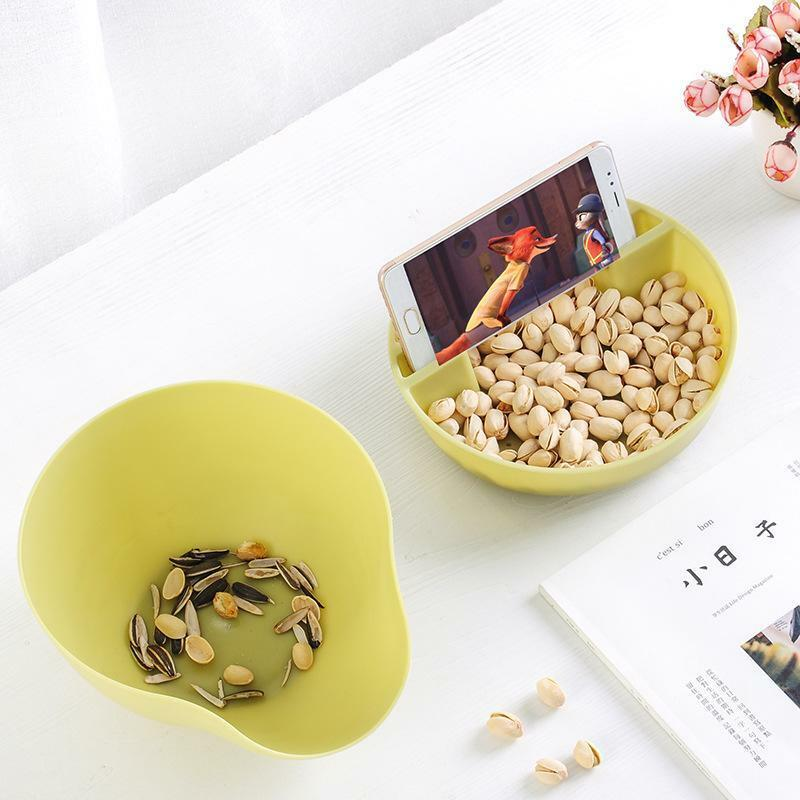 Image 2 - Convenience Double Layer Snacks Nuts Storage Box Garbage Holder Plate Dish Organizer Plastic Dry Fruit Containers-in Storage Boxes & Bins from Home & Garden