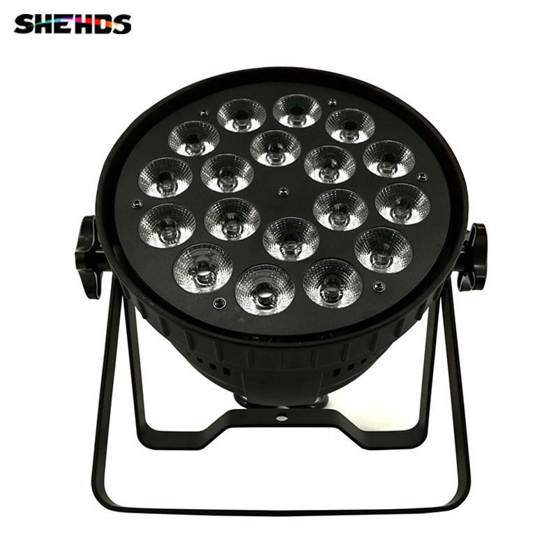 8 pcs Mini LED Par Can 18x18W RGBWA+UV DMX Stage Lights Business Light High Power Light with Professional for Party KTV Disco DJ 2pcs lot mini led wash moving head 4x18w rgbwa uv dmx stage lights business high power with professional for party ktv disco dj