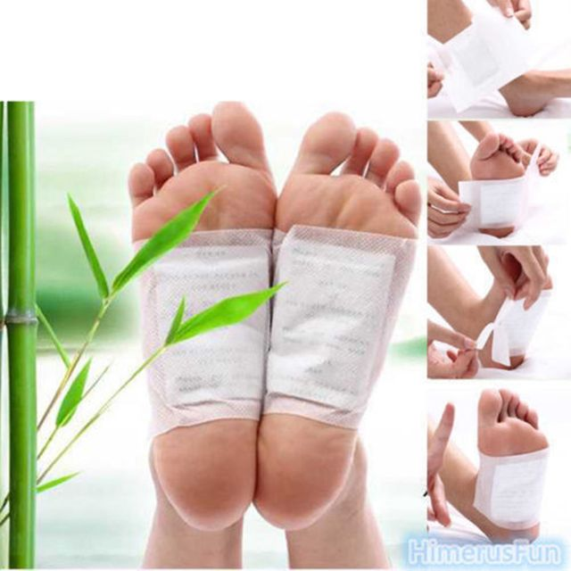 10 detox foot pads patch detoxify toxins with adhesive keeping fit