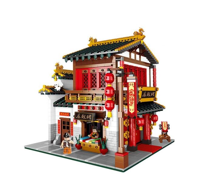 XingBao 01001 2787Pcs Creative Chinese Style The Chinese Silk and Satin Store Set Building Blocks Educational Bricks Toys giftXingBao 01001 2787Pcs Creative Chinese Style The Chinese Silk and Satin Store Set Building Blocks Educational Bricks Toys gift