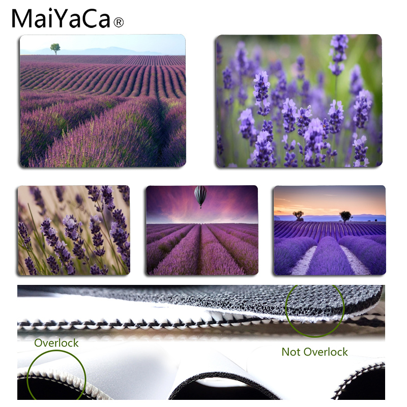Babaite New Designs Lavender Customized MousePads Computer Laptop Anime Mouse Mat Size for 18x22cm and 25x29cm Small Mousepad