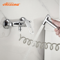 Accoona Bath Bidet Faucet Toilet Hand Held Bidet Sprayer Kit Brass Chrome Plated Bidets Spray Shower Head With Bathroom A3117