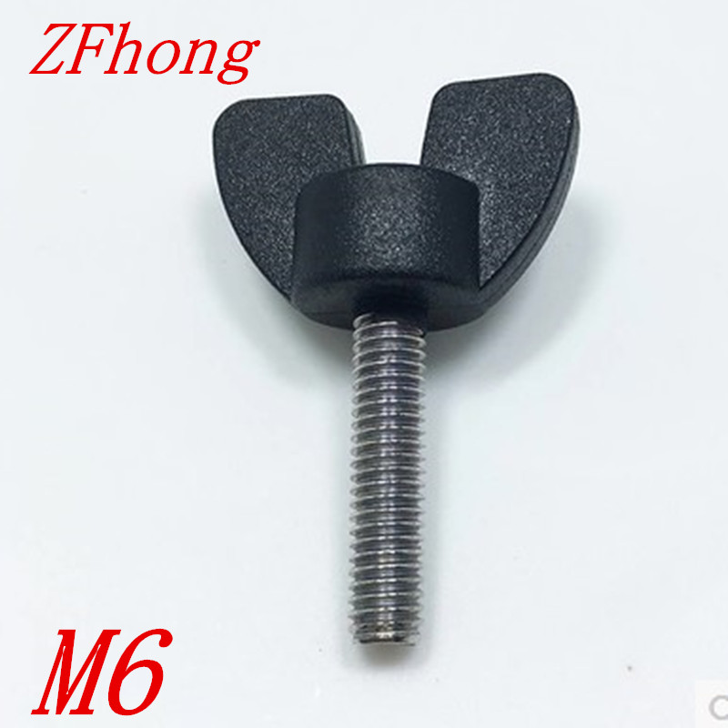20pcs M6*10/15/20/25/30/35/40/45/50 nylon plastic head Handle Special Handle wing butterfly screw Bolts щебень фракция 20 40 мм 50 кг