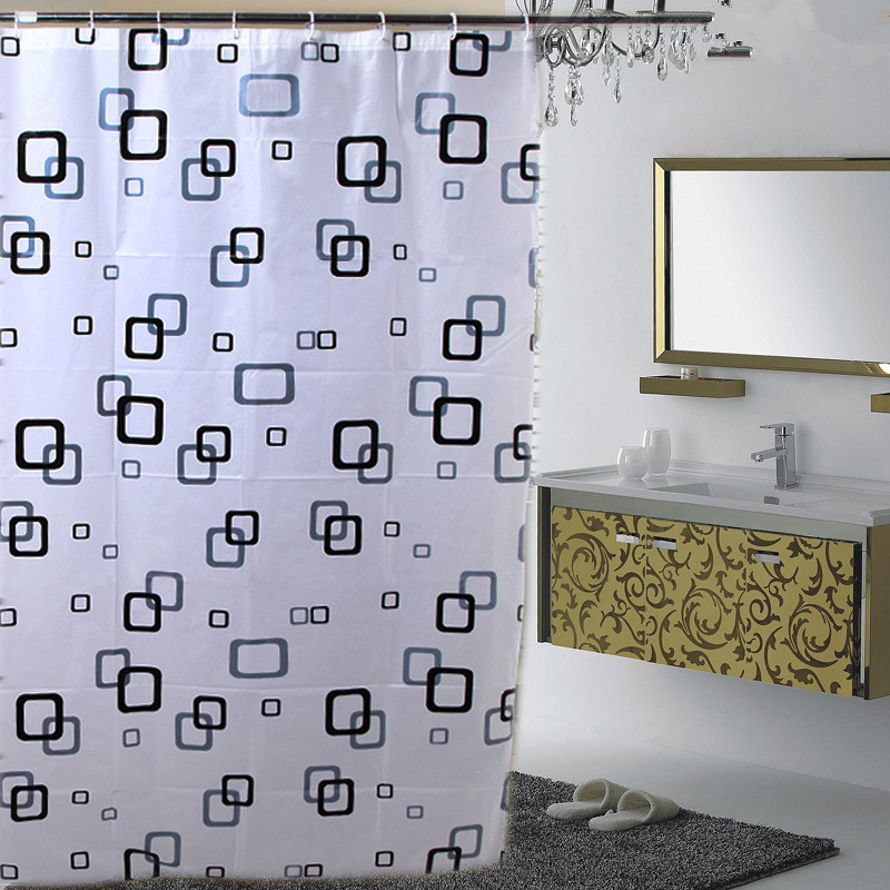 High-end hjem dekoration shower curtain vandtæt tyk boks PEVA shower - Husholdningsvarer