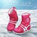Детский снегоступы 2016 зимние нескользящей непромокаемые сапоги снега теплые дышащие мальчики и девочки вниз снегоступы UOVO бренд