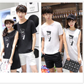 Hot Selling Couple Clothes Lovers Summer Casual  women's long t shirts Tops patchwork striped men short sleeve T-shirts F228