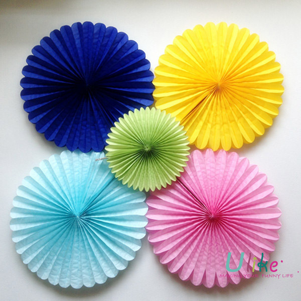 10 20ps Lot Party Flowers Favor Birthday Decor Fan Wedding Item Cheap Favors For Kids In DIY Decorations From Home