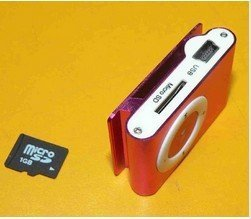 Free shipping! NEW MINI Clip MP3 Player Support 4GB 2GB Micro TF card