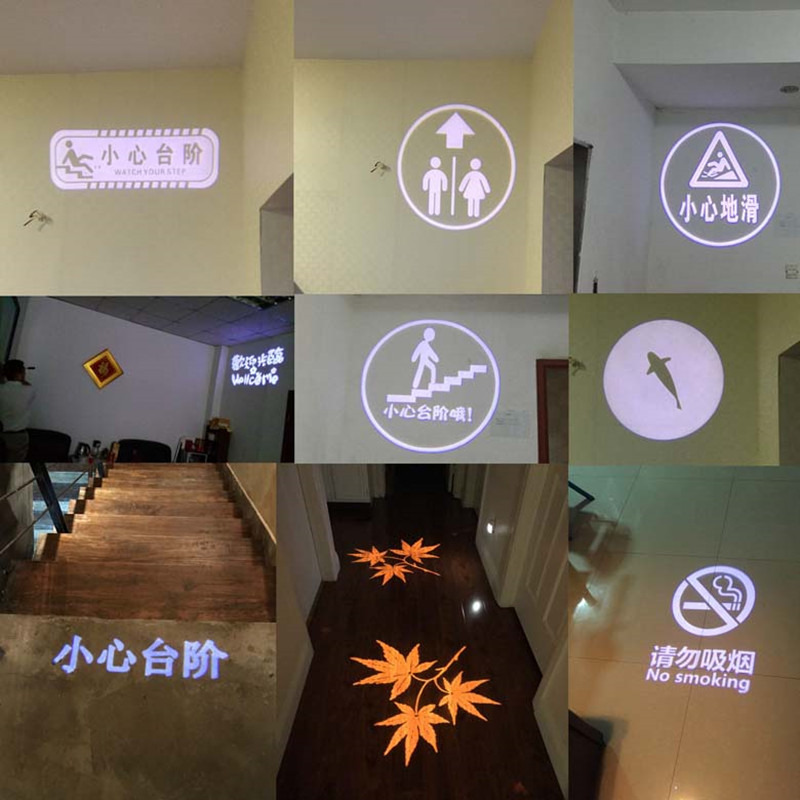 GYLBAB Glass Gobo LOGO Film For E27 Logo Project Light Lamp Advertising Store Sign Room Number Lamp