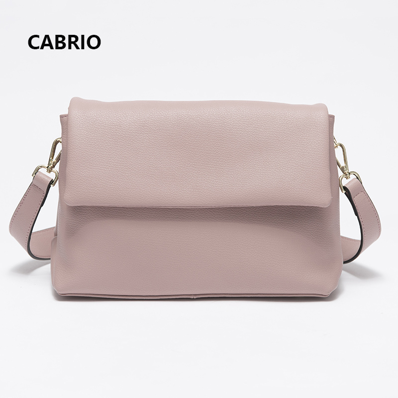 CABRIO Casual Women Crossbody bags Soft Genuine Leather Flap Bag Small Messenger Bags High Quality Simple Style Girls Party Bag cabrio casual women crossbody bags patchwork genuine leather flap small messenger bags for ladies women clutch bag metal button