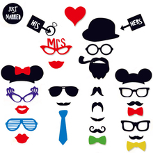31pcs font b Party b font font b Photo b font Booth Funny Glasses Moustache Christmas