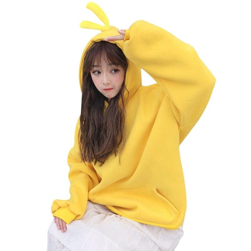 Women's Hooded Spring / Autumn Sweatershirt Women Plus Velvet New Thick Sweatshirts