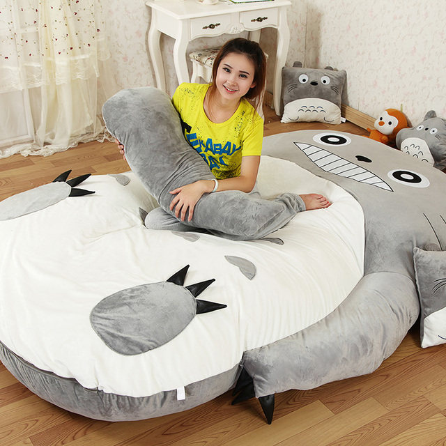 Large matelas Totoro Single and Double Bed Giant Totoro Bed Mattress  Cushion Plush Mattress Pad Tatami Cushion Beanbag 5 sizes 45a987f23