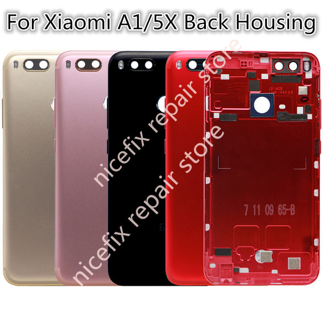 save off 25cd6 cd26f US $19.99 |For Xiaomi Mi A1 Battery Back Cover for Xiaomi MiA1 Rear Door  Housing Replacement Repair Spare Parts Red + Power Volume Button-in Mobile  ...