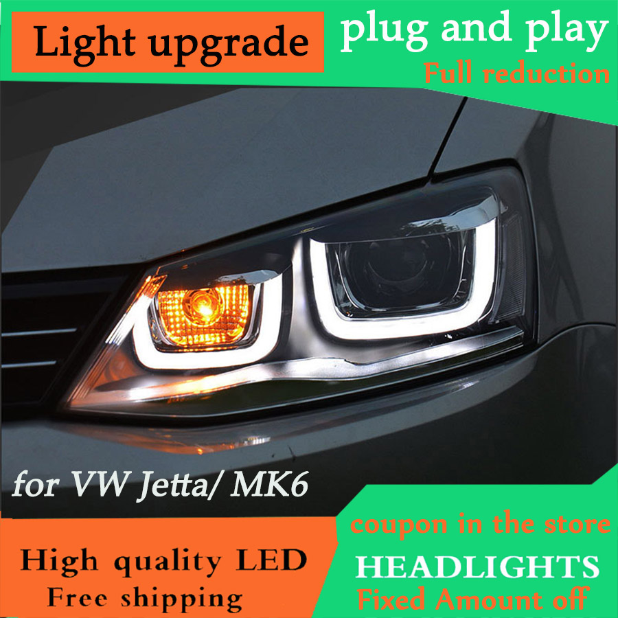 D YL Car Styling for VW Jetta Headlights 2012 2018 New Jetta MK6 LED Headlight DRL