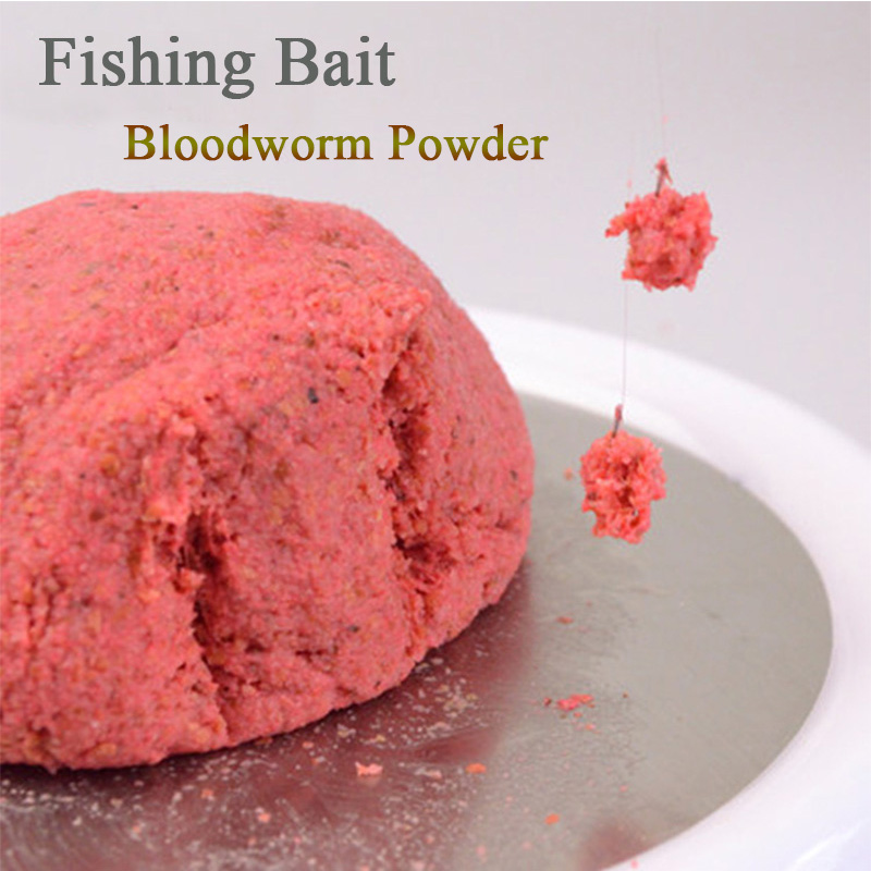 Hot! Fishing Baits Sale Natural 120G 200G Bloodworm Powder Crucian &Grass Carp Killer Ideal Necessary Fishing Bait Fishing Lure image