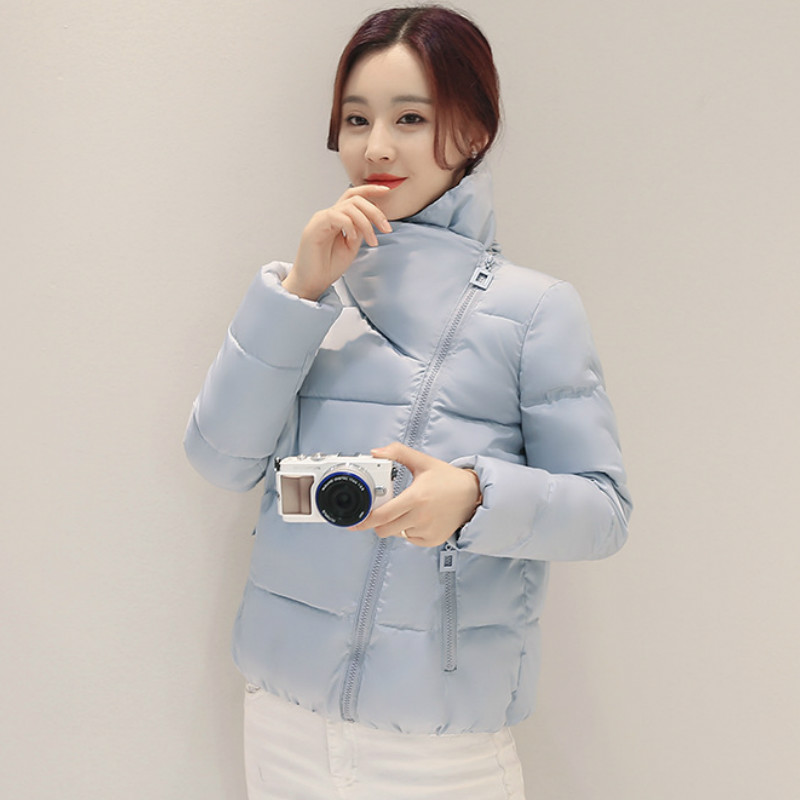 2019 New Stand Collar Winter   Jacket   Women Solid Stylish Womens   Basic     Jackets   Outerwear female Spring Short Coat Feminina QH206