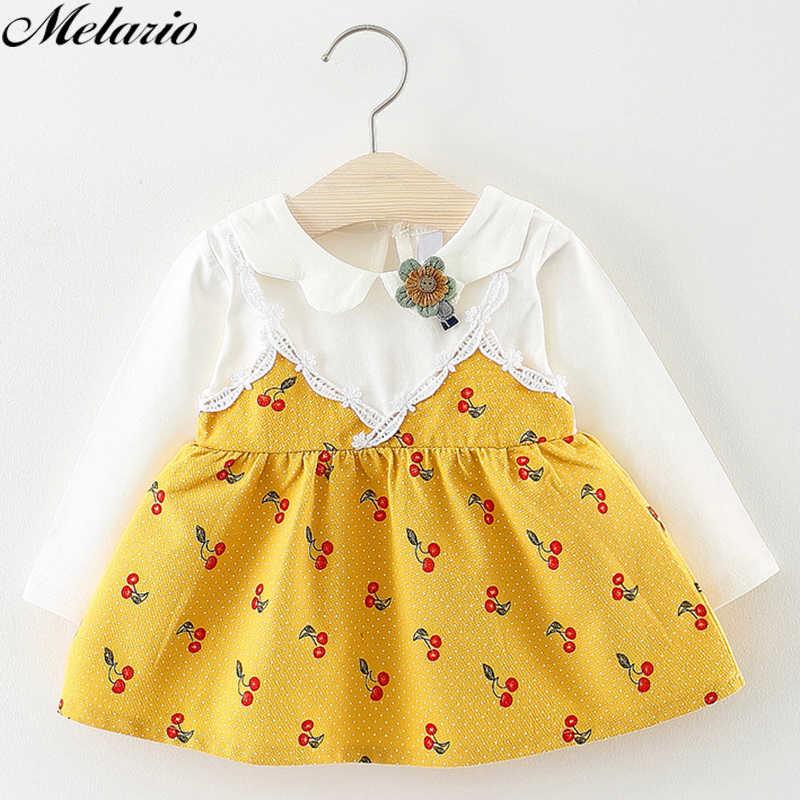 Платья для девочек; новая одежда для маленьких девочек; сетчатая детская одежда для дня рождения; милое платье принцессы с длинными рукавами и принтом фруктов