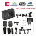 Versão internacional!! xiaomi yi wifi esporte action camera 16mp 60fps ambarella bluetooth4.0 xiaoyi conjunto conector à prova d' água