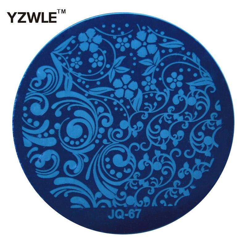 Yzwle 1 Pcs chapa de aço inoxidável Stamp estamparia imagem placas DIY Manicure Template prego ferramentas polonês ( JQ-67 )