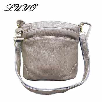 LUYO Natural High Quality Genuine Cow Leather Shoulder Bags Flap For Women Mummy Casual Messenger Bag Handbag Female Crossbody - DISCOUNT ITEM  54% OFF All Category