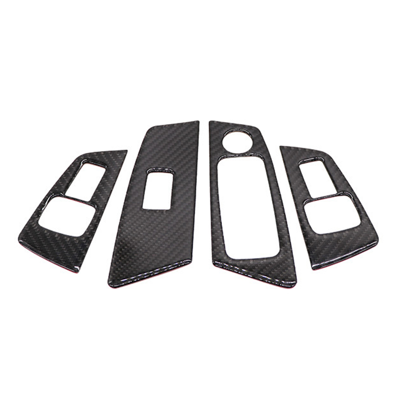 Carbon Car Interior Decal Sticker Glass lifting Panel High Match Frame Trim Fit for BMW 5 Series
