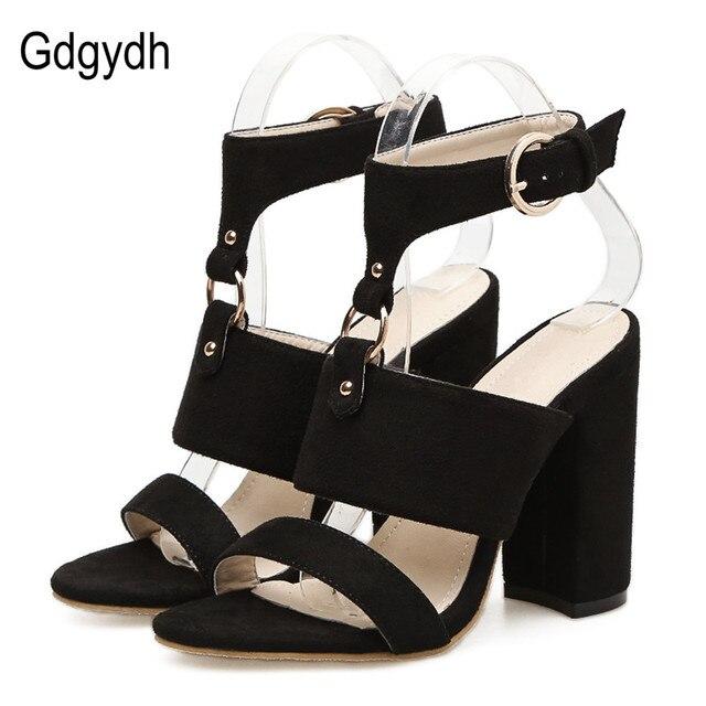 Gdgydh Mode Schnalle High Heels Sandalen Frauen Frühling