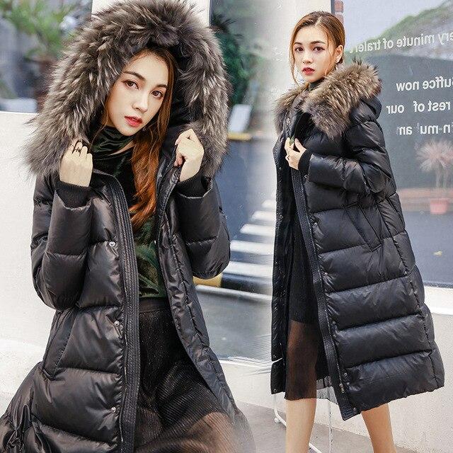 2017 De Luxe des femmes vers le bas vestes Long Hiver Manteau Femme  doudoune femme Hiver