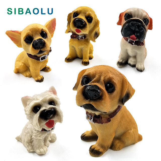 1pc Famous Dogs Model puppy Status Home Office Car ornament Decor Cartoon Figurines People Animal statue resin craft TNJ016 1
