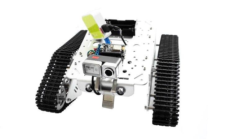 Réservoir vidéo WiFi RC avec Kit de développement NodeMCU avec bouclier moteur L293D avec caméra T300