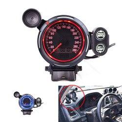 80 MM prędkościomierz przebieg niebieski i czerwony KMH  MPH prędkościomierz z przesunięcie ku czerwieni światła dla samochodów wskaźnik samochodowy Prędkościomierze    -