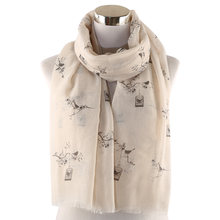 Winfox розовый серый женский длинный шарф с зернистой текстурой