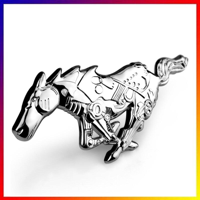 YYD Carrosserie Logo Voiture d/écoration Autocollant Accessoires Voiture pour Ford Mustang,Argent