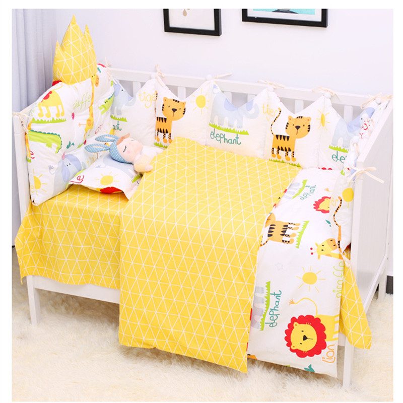 9pcs/set Newborn Baby Bed Linen Breathable Cotton Cot Set Detachable Baby Bedding Infant Crib Protector Bumper Set Multicolor9pcs/set Newborn Baby Bed Linen Breathable Cotton Cot Set Detachable Baby Bedding Infant Crib Protector Bumper Set Multicolor