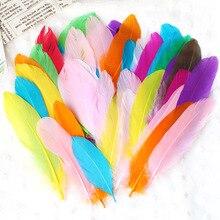 Детский сад ручной работы игрушки с цветными перьями DIY Материал паста декоративные дети творческое искусство и рабочий ход Материал S