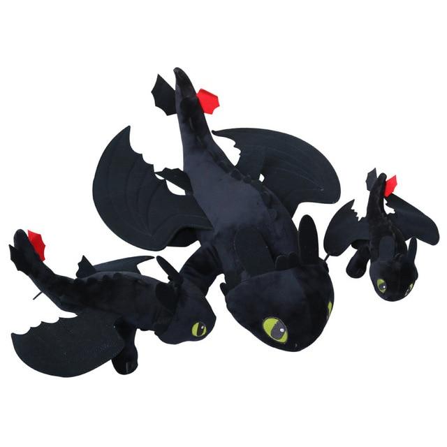 3 quente Anime Como treinar O Seu Dragão de pelúcia Desdentado Fúria Da Noite toy plush Macio stuffed animal boneca de brinquedo de Pelúcia caçoa o presente de natal